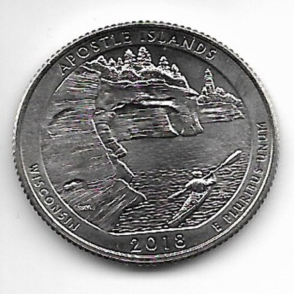 USA 25 Cent 2018 P Apostle Islands (42)