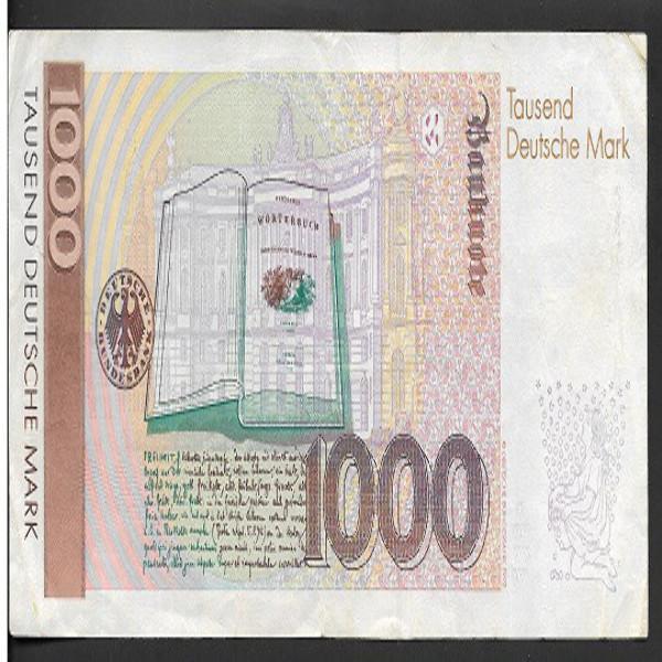 1000 Deutsche Mark DM 1.8.1991 gebrüder Grimm