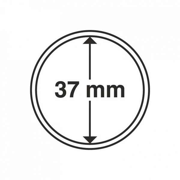 MÜNZKAPSELN CAPS 37 MM, 10 ER PACK