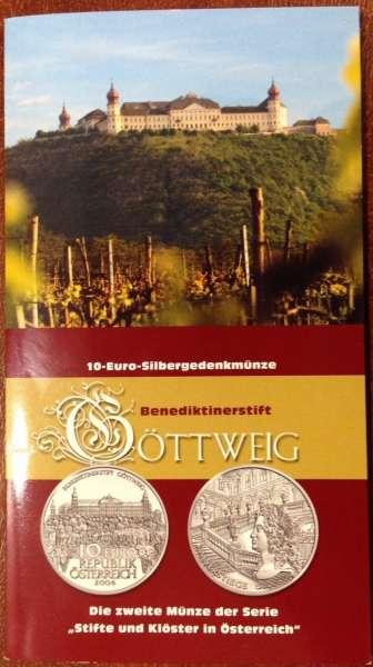 10 Euro Silber 2006 Stift Göttweig HgH ANK Nr. 10