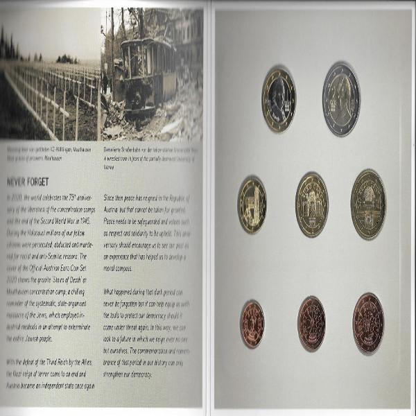2020 offizieller Euro-Kursmünzensatz KMS Mintset Österreich