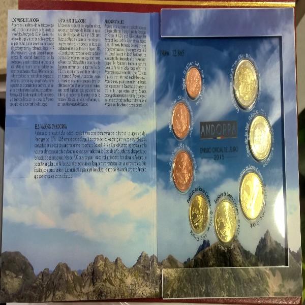 Kursmünzenset KMS Coinset Andorra 2015