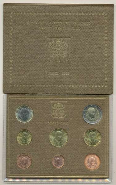Kursmünzensatz Vatikan 2011 KMS Coinset
