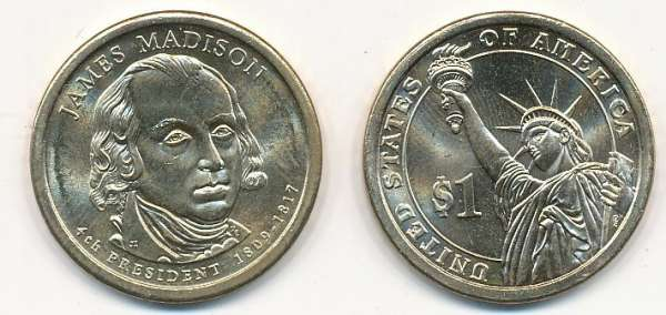 USA 1 Dollar 2007 D James Madison (4)
