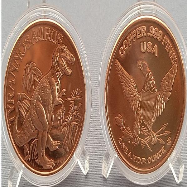 USA Tyrannosaurus 1 Unze Kupfer Medaille