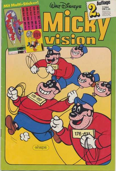 Mickyvision 2.Auflage Heft Nr. 1/1984