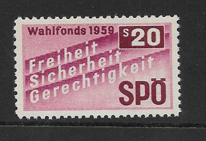 Parteispende SPÖ Wahlfonds 1959 20 Schilling