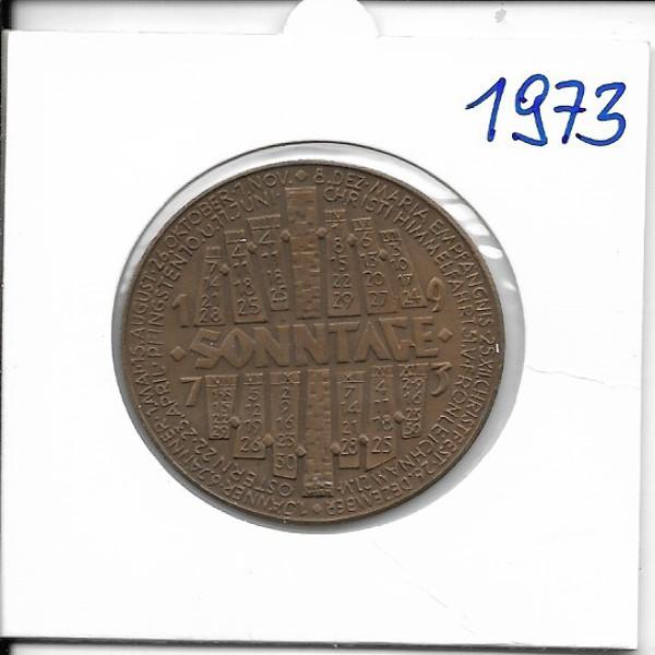 1973 Kalendermedaille Jahresregent Bronze