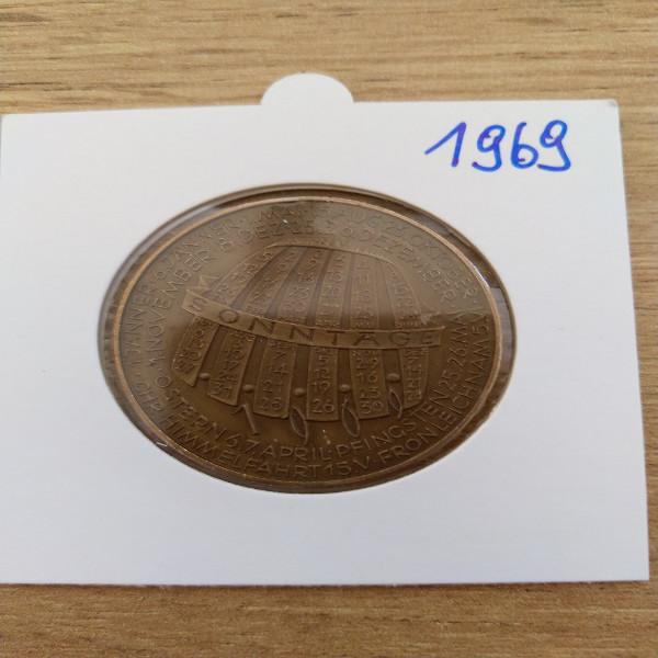1969 Kalendermedaille Jahresregent Bronze