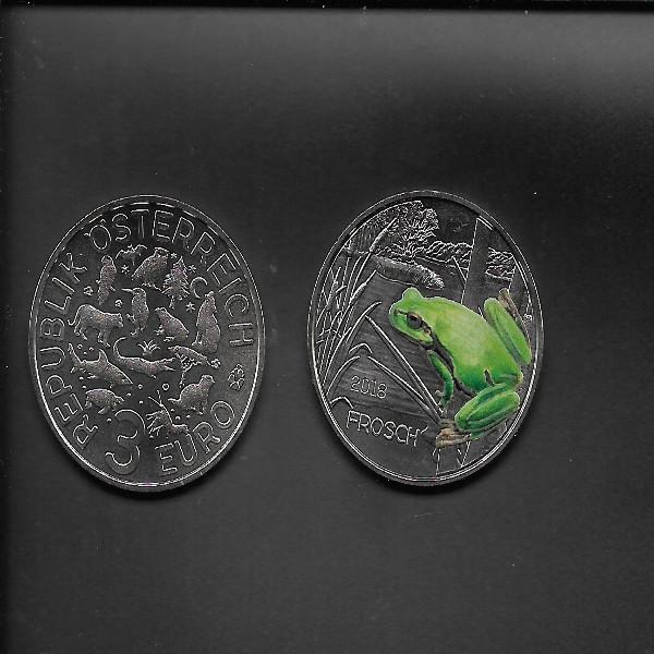 ANK Nr. 09 Tiertaler 3 Euro Österreich Frosch 2018