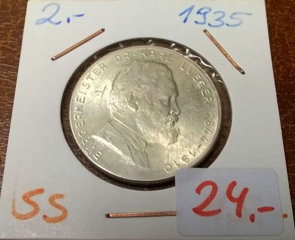 2 Schilling 1935 Lueger Silber